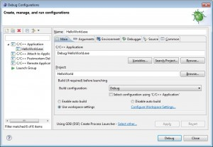 Eclipse-Debug configurations